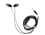 Lite Metal Earphone with Gold Plated 3.5 mm pin for All Mobile Phones EZ433 Black - EZELLER
