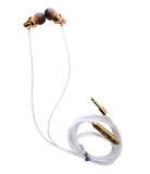 Lite Metal Earphone with Gold Plated 3.5 mm pin for All Mobile Phones EZ433 Gold - EZELLER