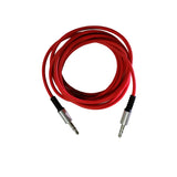 Audio Cable 3.5 mm (6.5 Feet) AUX Cable Rugged Wire with Metal Head EZ434 RED - EZELLER