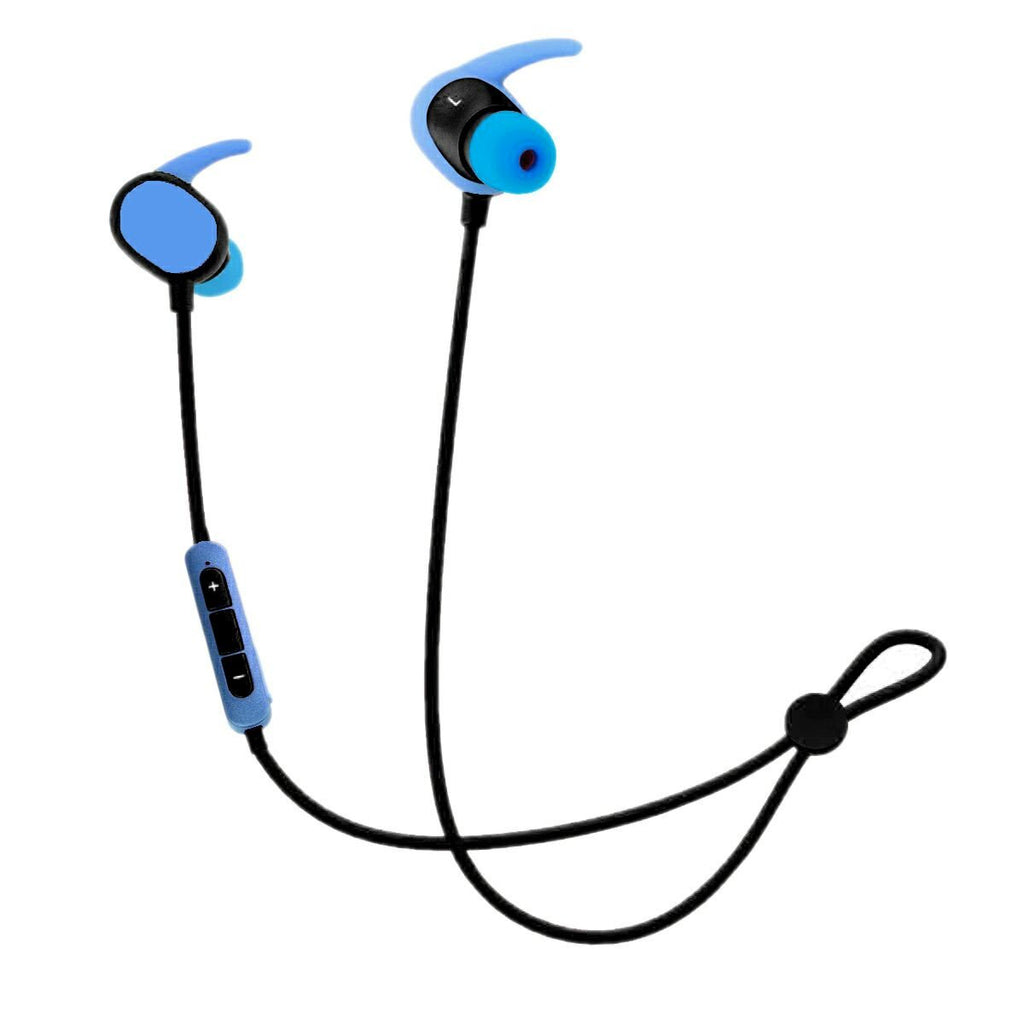Bluetooth bass gaming headset with Telescopic ease band EZ082- Azure Blue - EZELLER