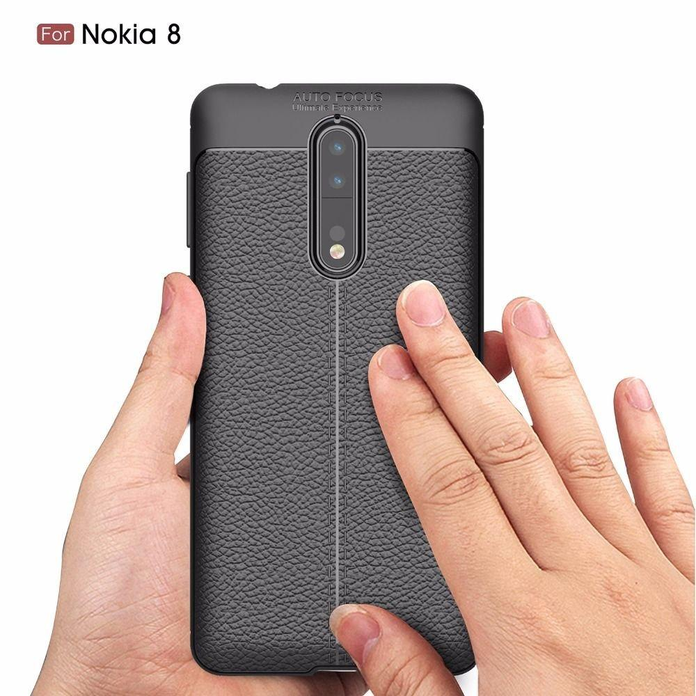 Premium Look Back Case TPU Material Slim Fit Flexible Lightweight Protective Back Cover for Nokia 8 - EZELLER