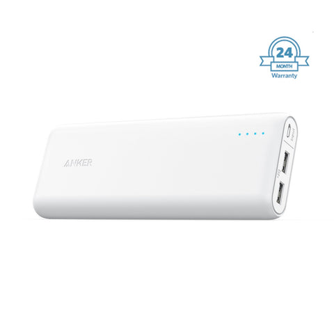 ANKER  Powerbank  20100 Mah Light & Portable POWERBANK ( 2 year Warranty ) EZ339(White) - EZELLER