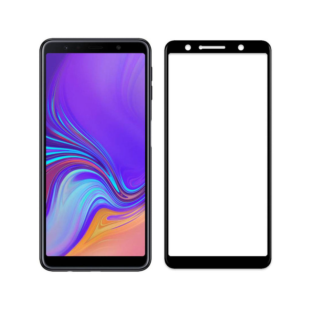 Samsung A7 2018 Full Tempered Glass 6D, Ultra Clear, Zero Bubbles, Sensitive Touch - EZELLER