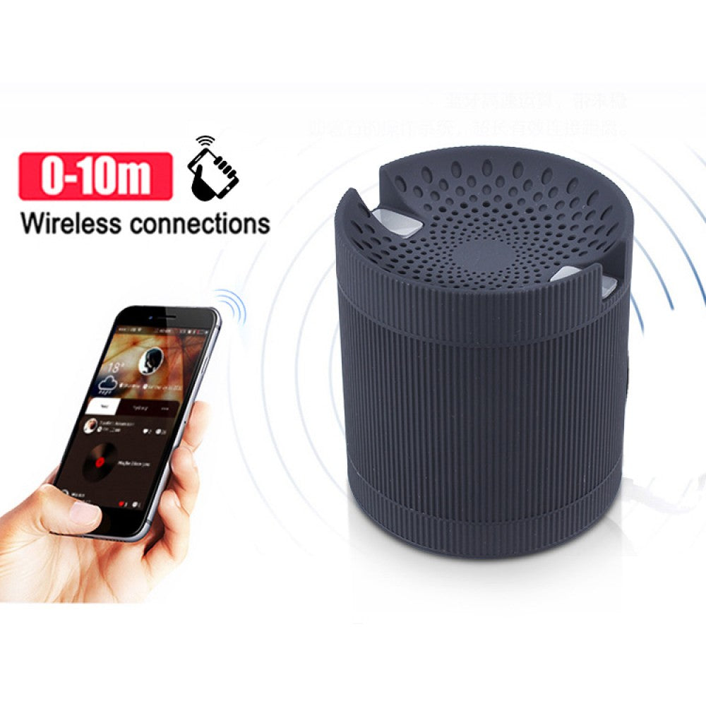 Bluetooth Speaker ( 6 IN 1 ) with Mobile Stand,FM radioUSB Port Memory card slot Aux-EZ396-BLACK - EZELLER