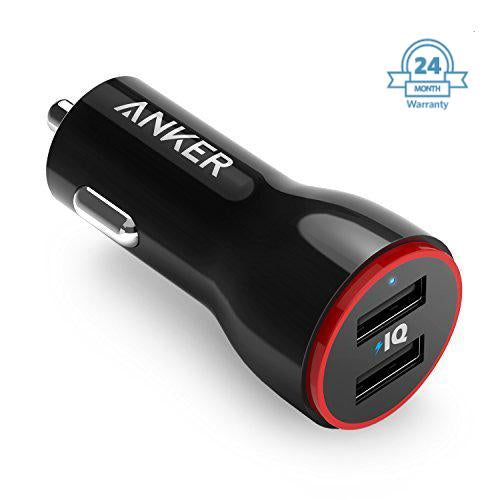 Anker Car Charger Power Drive 2 With Micro Usb Cable ( 24 W)- ( 2 year Warranty ) EZ340 (Black) - EZELLER