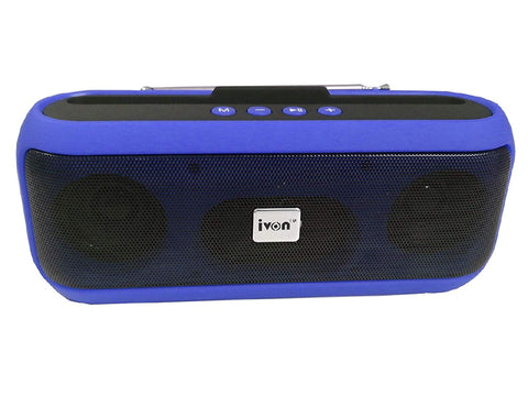 IVON Wireless Music Player with FM Radio, TF Card Slot, USB Slot, Handfree Calls Ideal for Shops, Senior Peoples, Offices and Home Music System
