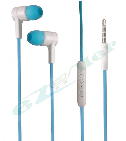 Ear Phone head phone and  Universal supported Head phone with MIC.ezo38-blue - EZELLER