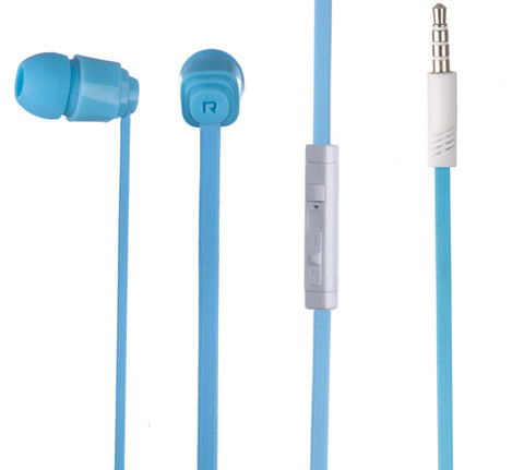 BS power BL-460 Smarty Geeky earphone with MIC - EZ033 Blue - EZELLER