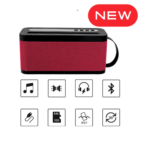 Bass Beats Party Hall Speaker Portable Bluetooth Speaker with Inbuilt FM Radio Plug & Play USB Port Memory Card Slot Aux in with Rechargeable Battery Compatible for All Mobiles,Tablets, TV & Consoles