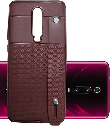 Redmi K20 Pro Case by Focus, 3N1 Cover Anti-Theft Hand Strap, Mobile Stand & Sleek Leather Texture Pouch Cover for Redmi K20 Pro