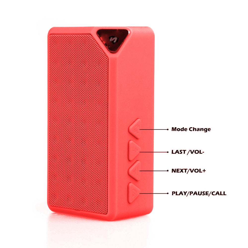 MOTHERS DAY OFFER !SPEAKER!!!SOUND BLAST Mini Bluetooth speaker with Mic-EZ177-RED - EZELLER