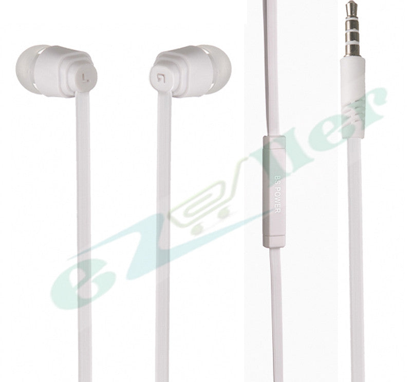 BS power BL-460 Smarty Geeky earphone with MIC - EZ033 White - EZELLER
