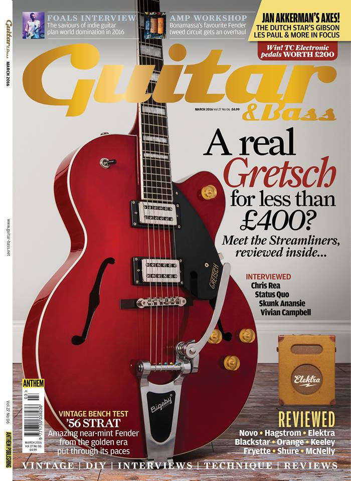 McNelly Featured in the March issue Guitar & Bass Magazine...