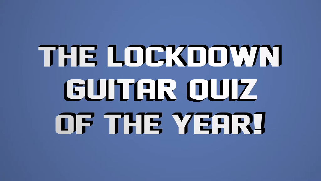 15 Second Gear Demo 'Lockdown guitar quiz of the year!'