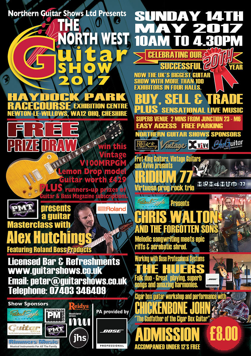 The North West Guitar Show 2017 at Haydock Park!