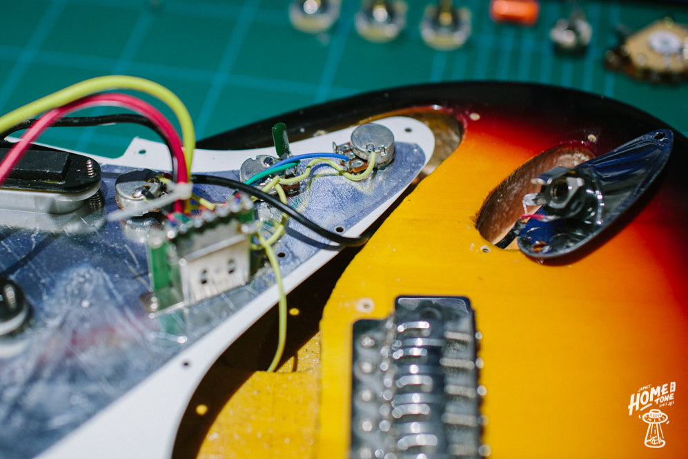 How to Guide - ing a Pre-Wired Harness to a Stratocaster ... Home Wiring Hardware on