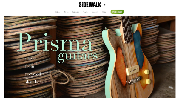 Prisma Guitars Interview - Sidewalk Magazine