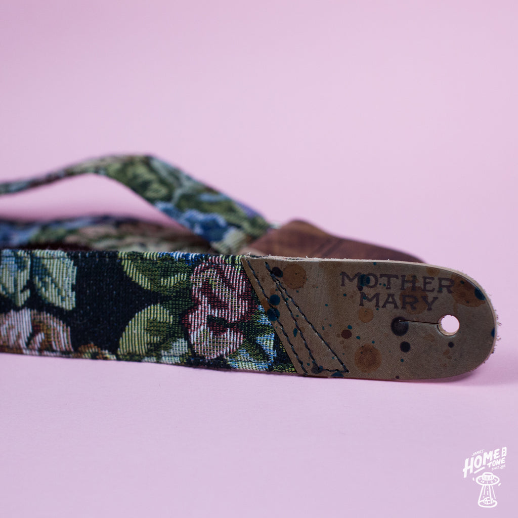 Mother Mary Company handmade guitar strap - Maudes couch