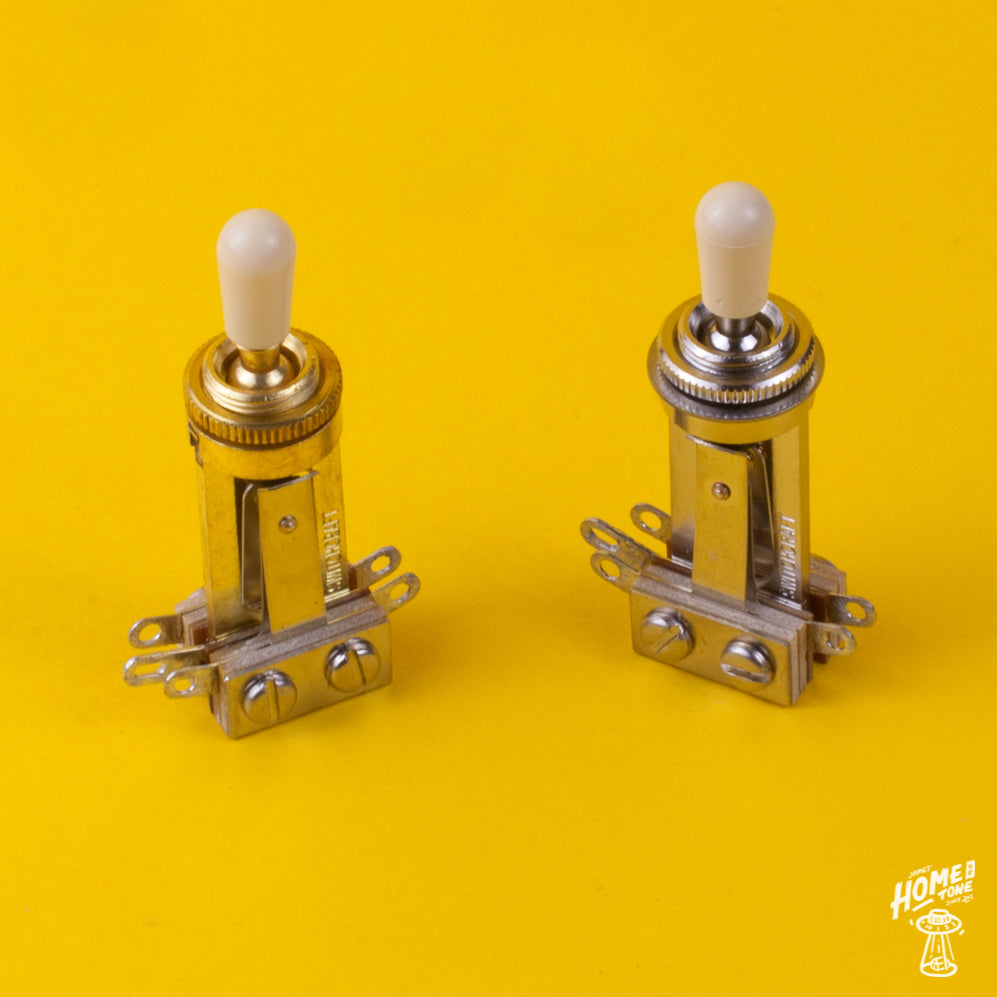 Yellow Amber Tip Les Paul Sg 3 Way Toggle Switch New