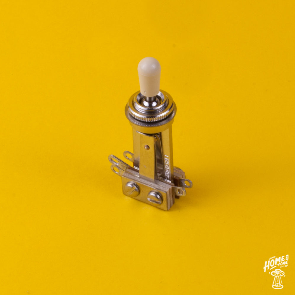 Switchcraft Long 3-way toggle switch Nickel fits Gibson® Guitars