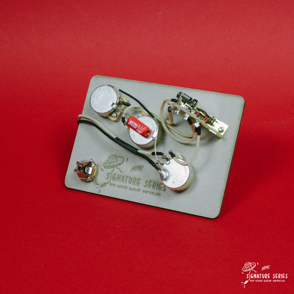 Pre-Wired Guitar wiring harness | 5-way Stratocaster 'Modern' kit  | Right & Left handed