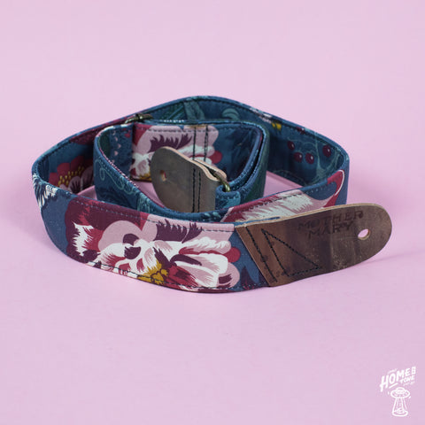 Mother Mary Company handmade guitar strap - Alice in Wonderland