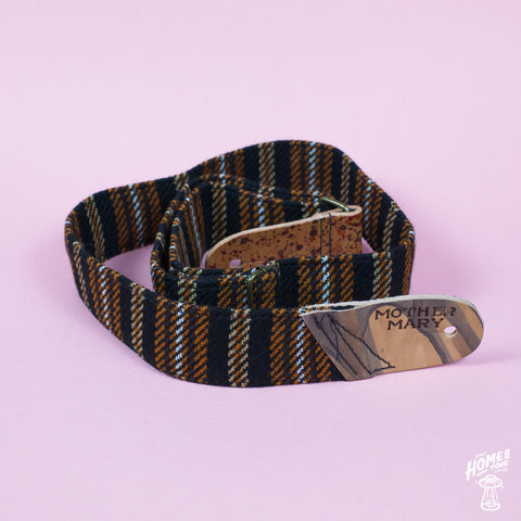 Mother Mary Company handmade guitar strap - Vintage Stripes