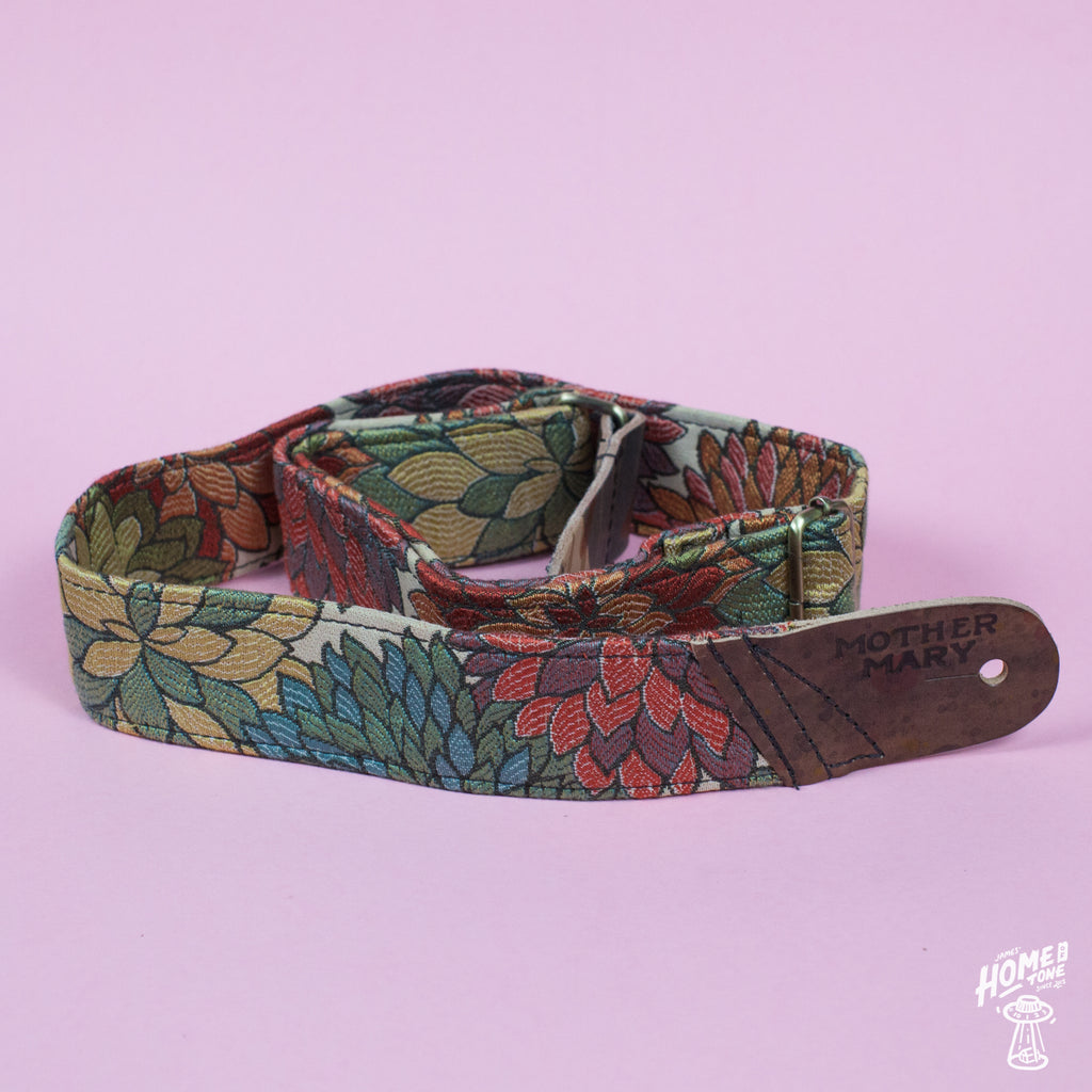 Mother Mary Company handmade guitar strap - Floral