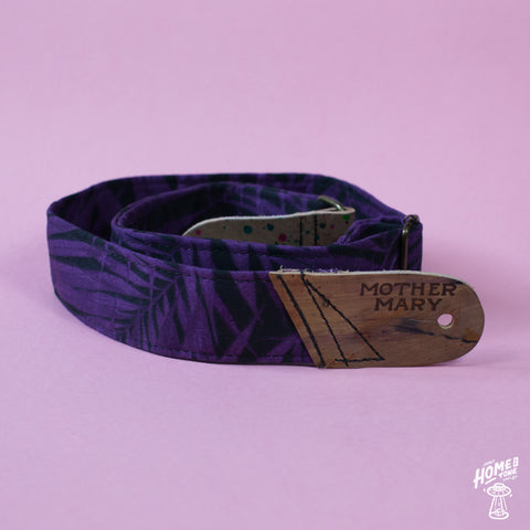 Mother Mary Company handmade guitar strap - Tropical Purple