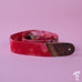 Mother Mary Company handmade guitar strap - Red Bleached