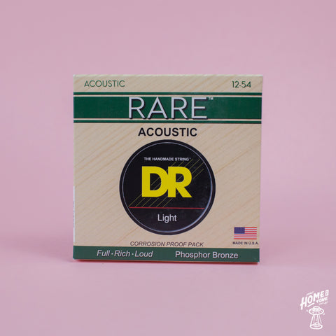 DR Strings - 'Rare' phosphor bronze hex core Acoustic guitar strings