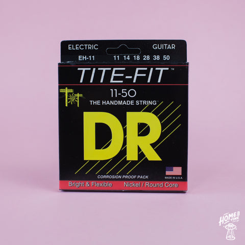 DR Strings - 'Tite-Fit' Nickel plated steel round core handmade electric guitar strings