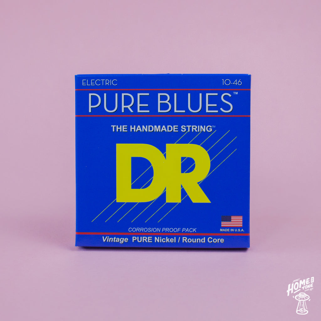 DR Strings - 'Pure Blues' Pure Nickel round core handmade electric guitar strings