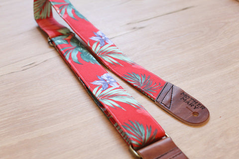 Mother Mary Company handmade guitar strap - 'The Ace' Floral PRE-ORDER