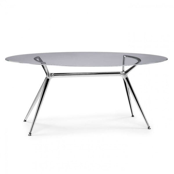 Glass Elliptical Top for Metropolis Table