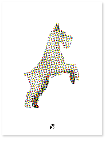 PLAKAT DOTS TERRIER
