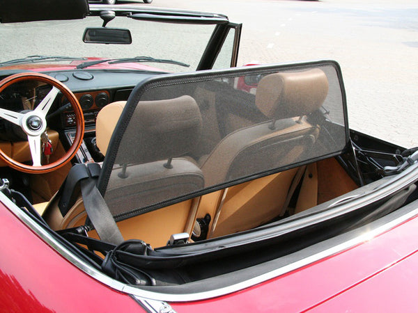 alfa romeo spider 105 115 wind deflector black