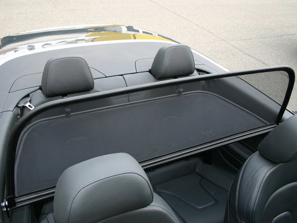 audi a5 2009 onwards black mesh wind deflector