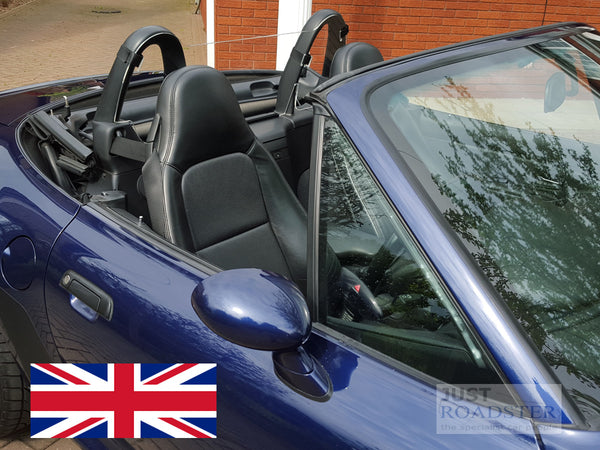BMW Z3 Wind Deflector to fit Standard Roll Bars Clear Perspex