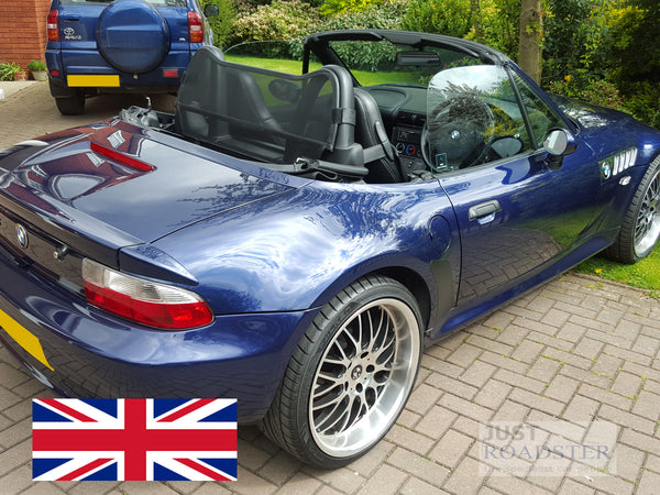 BMW Z3 Wind Deflector (with standard roll bars fitted) Mesh Black