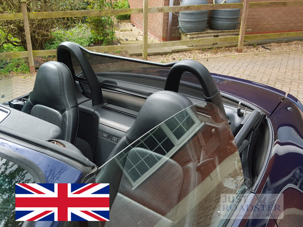 Bmw Z3 Wind Deflector With Standard Roll Bars Fitted