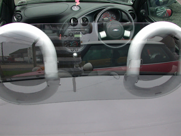 ford ka street ka 1996 2008 wind deflector clear