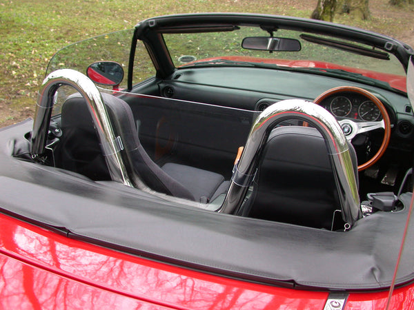 Mazda Mx5 Mk1 Wind Deflector 1989 1997 To Fit V Style