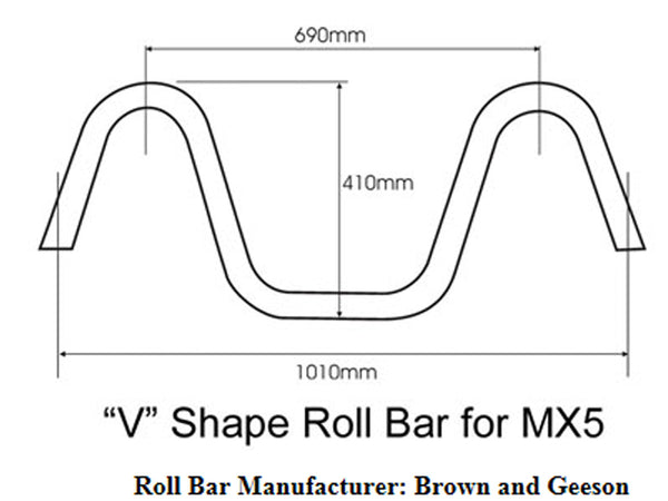 Mazda MX5 Mk1 Wind Deflector 1989-1997 to fit V Style