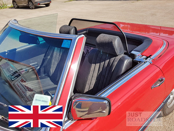Mercedes SL R107 / W107 Wind Deflector 1971-1989 Mesh Black