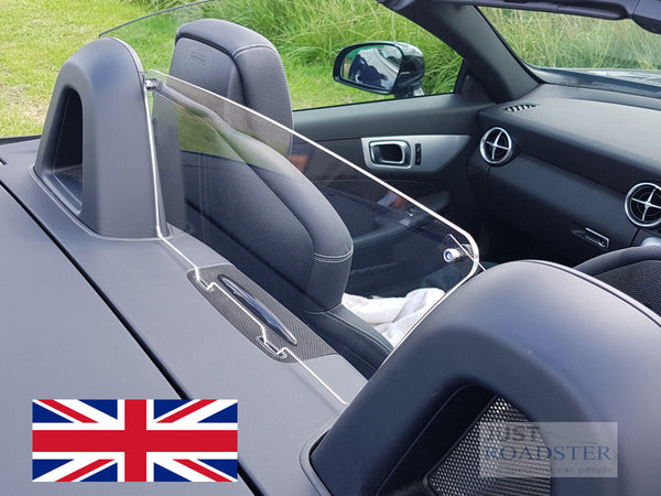 Mercedes SLC Wind Deflector 2017-2019 Half Size Clear Perspex