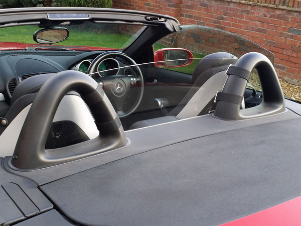 mercedes slk r171 2004 2011 half size wind deflector clear 1