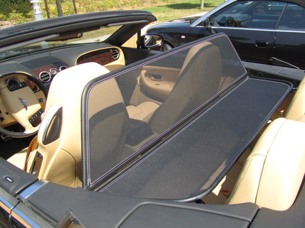 bentley continental 2004 2012 black mesh wind deflector