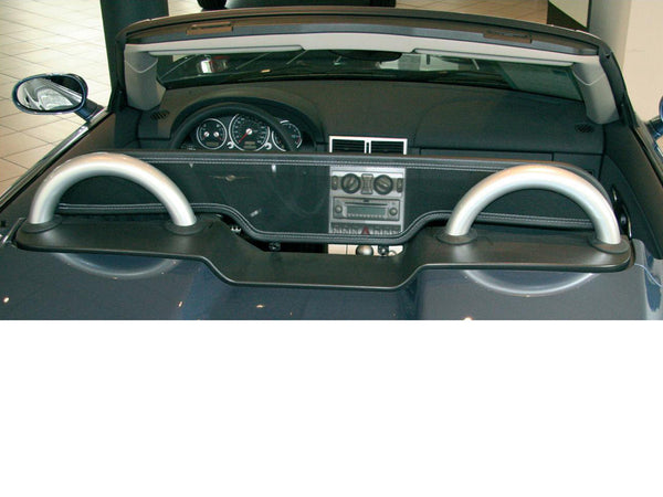 chrysler crossfire 2003 2007 black mesh wind deflector