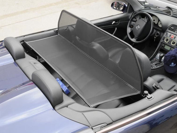 mercedes clk w208 1998 2003 black mesh wind deflector